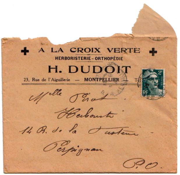 Ancienne enveloppe de l 39 herboristerie - Comptoir de l herboristerie ...