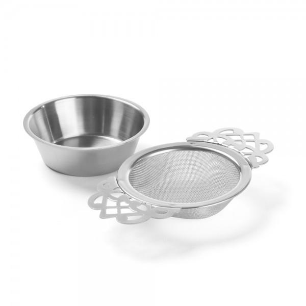 Thé Passoire à Thé /& teefilter avec abtropftablett inoxydable en acier inoxydable Ø 6 cm